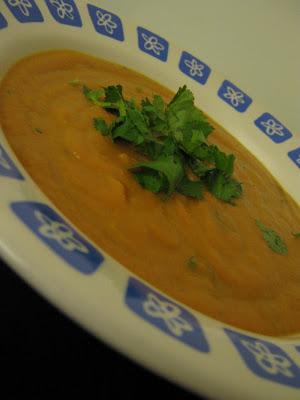 Potage de carottes à la coriandre - Cinq Fourchettes