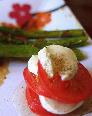 Boccocini et tomates à la balsamique - Cinq Fourchettes
