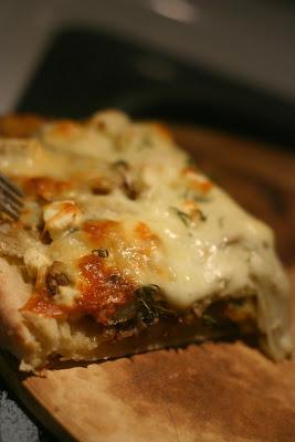 Pizza pommes de terre, romarin et feta - Cinq Fourchettes