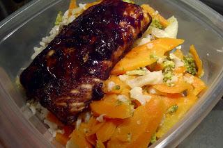 Un lunch pour oublier (ou saumon à l'érable et au gingembre) - Cinq Fourchettes