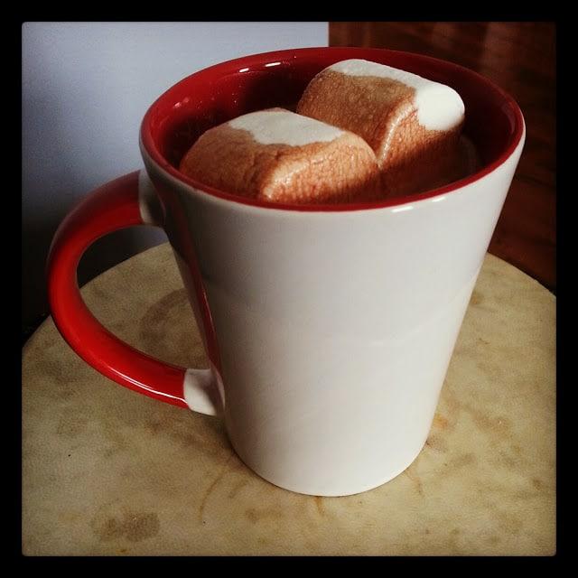 Chocolat chaud pour les après-midis d'hiver