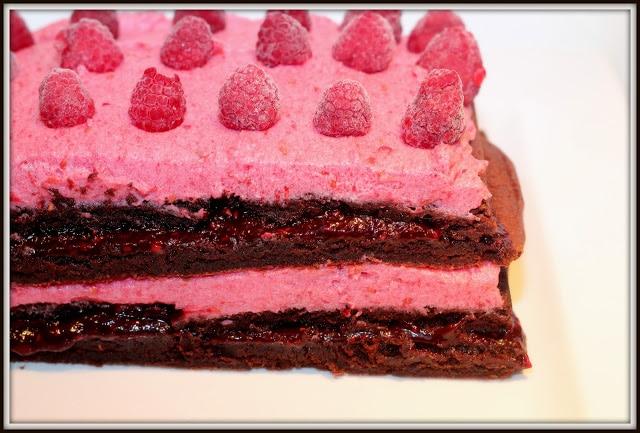 Lasagne de brownies aux framboises - Cinq Fourchettes