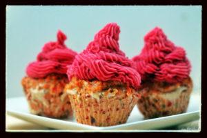 Cupcakes au saumon et à la pomme de terre / Cinq Fourchettes