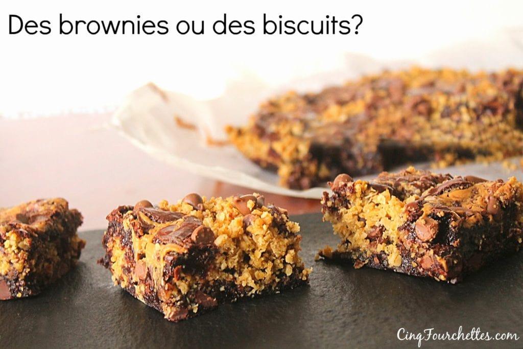 Des brownies aux... biscuits! - Cinq Fourchettes