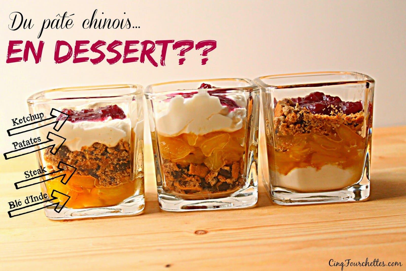 Verrines de pâté chinois... pour dessert! - Cinq Fourchettes