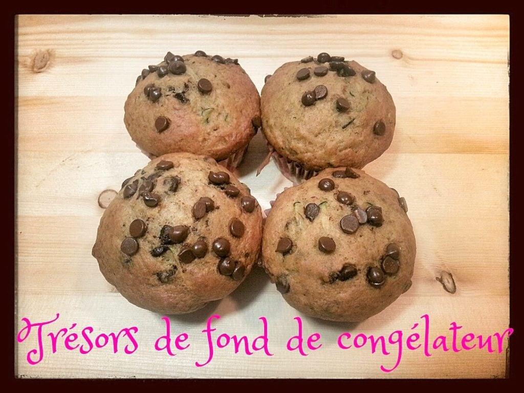 Cupcakes choco-banane-courgette - Cinq Fourchettes