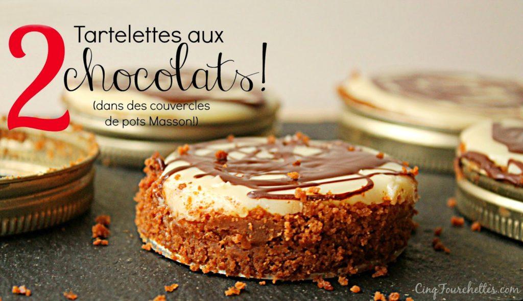 Tarte au chocolat blanc dans des couvercles de pot Masson! - Cinq Fourchettes