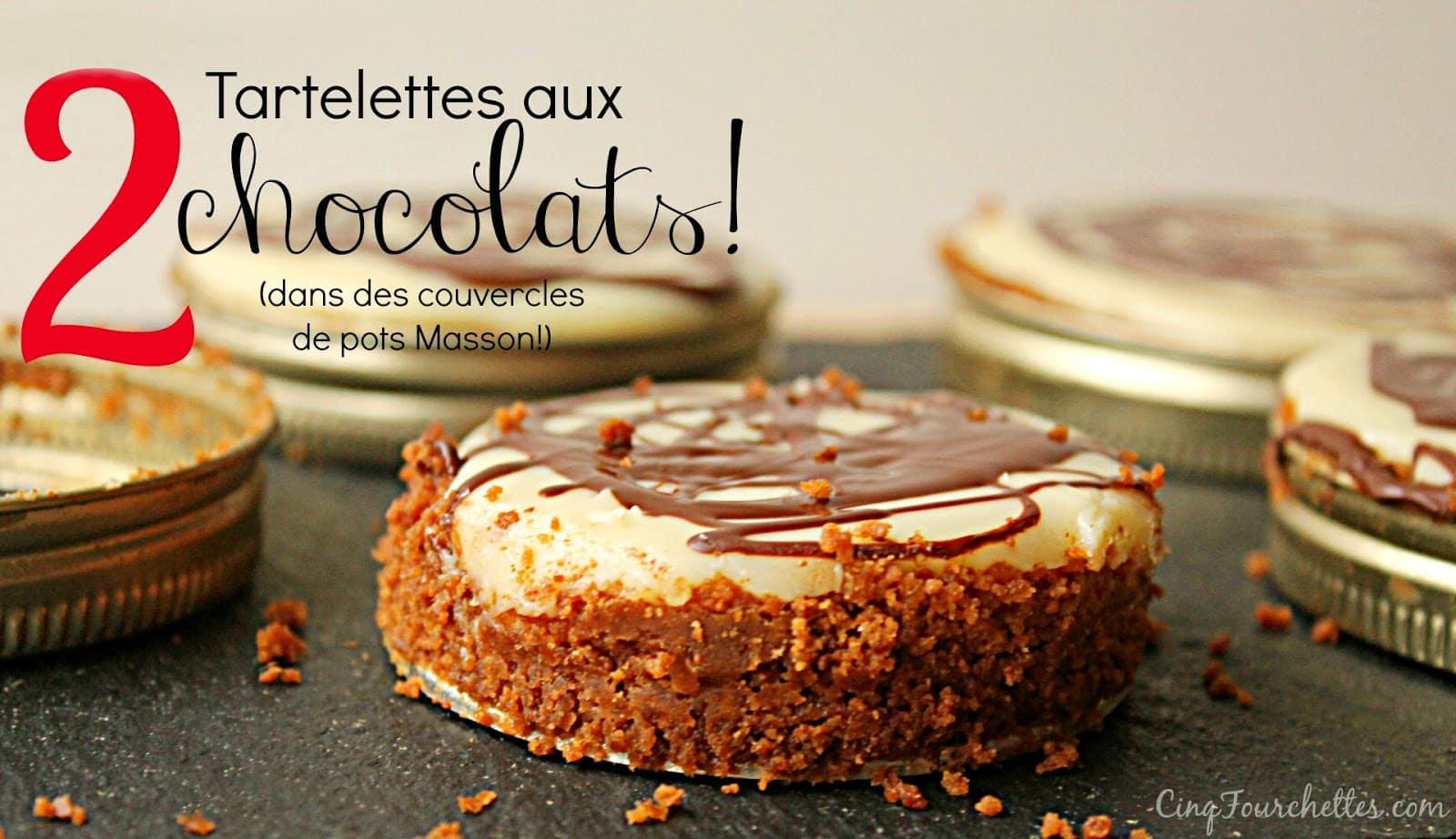 Tarte au chocolat blanc dans des couvercles de pot masson - Comment decorer une tarte au chocolat ...