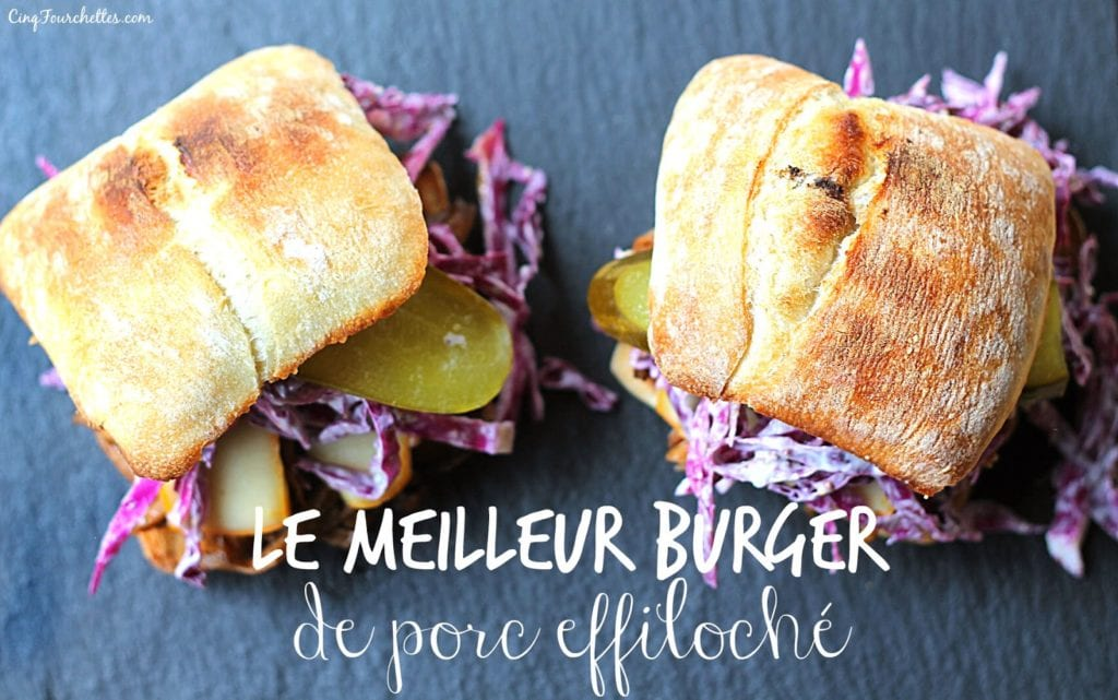 Le meilleur burger de porc effiloché #BicksBurgers - Cinq Fourchettes