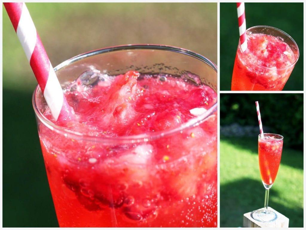 Punch à la fraise et pomme grenade / Cinq Fourchettes