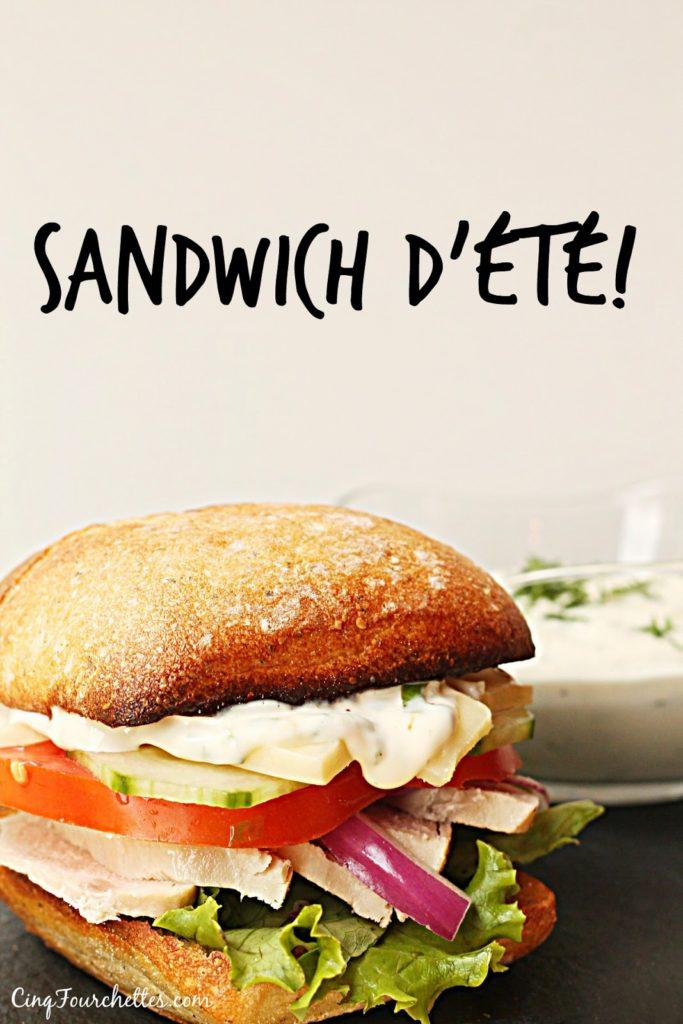 Sandwich d'été Mayonnaise lime et basilic - Cinq Fourchettes