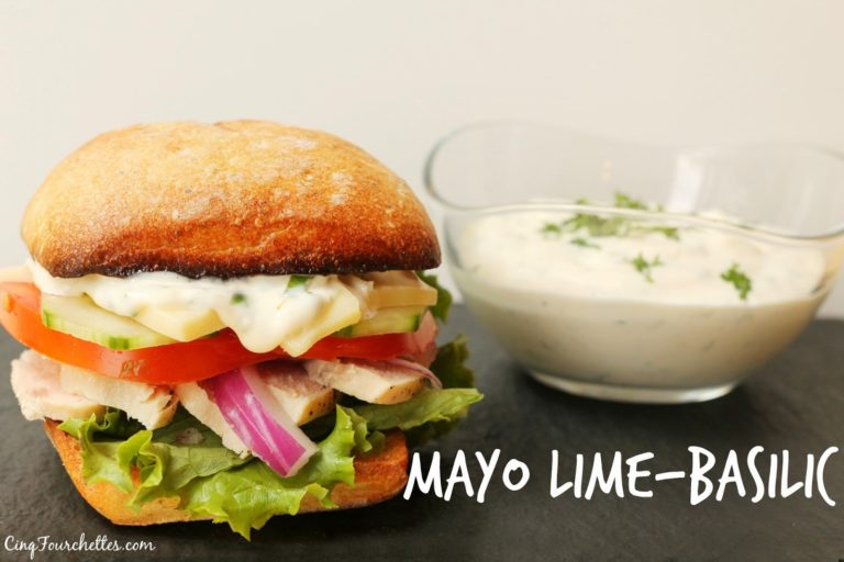 Mayonnaise lime et basilic - Cinq Fourchettes