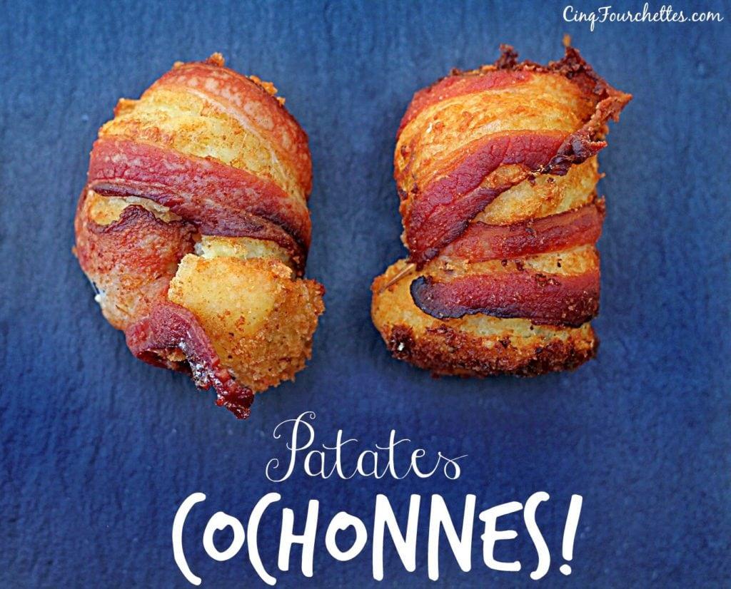 Bacon-fromage- pommes de terre = patates cochonnes / Cinq Fourchettes