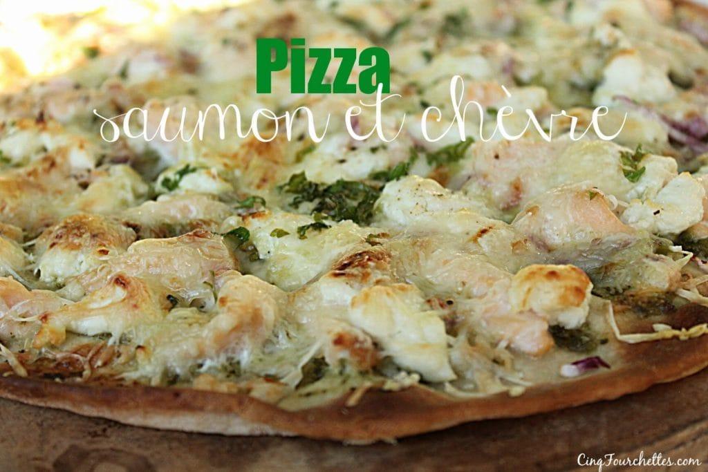 Pizza au saumon et chèvre! Miam! - Cinq Fourchettes