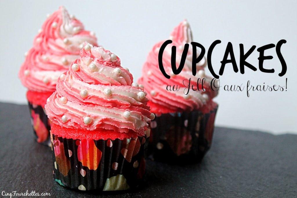 Cupcakes au Jell-O à la fraise