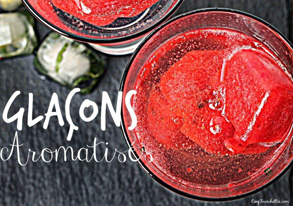 Glaçons aromatisés pour de l'eau moins plate! - Cinq Fourchettes