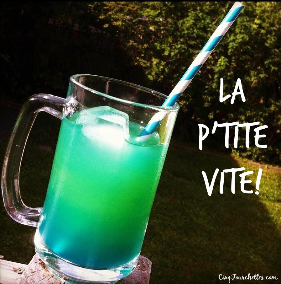 """Cocktail maison: La """"p'tite vite"""" ! - Cinq Fourchettes"""