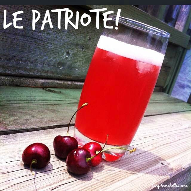 Le Patriote, un cocktail qui goûte le ciel - Cinq Fourchettes