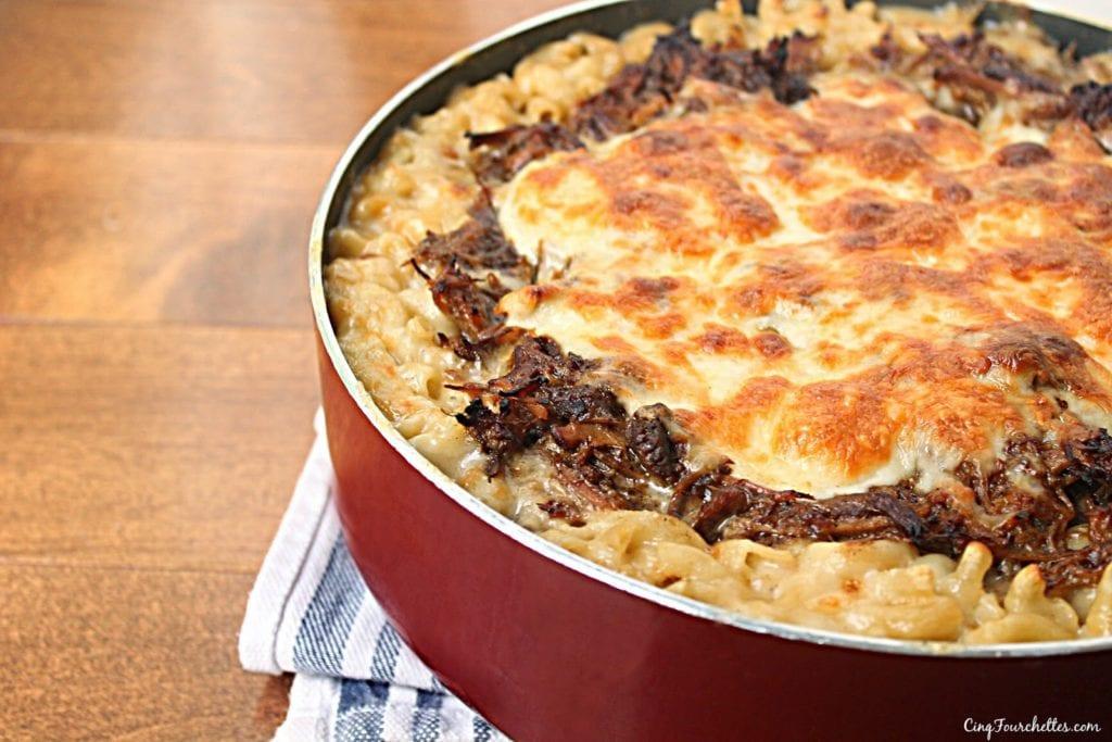 Les restants! : Mac & Cheese au porc effiloché - Cinq Fourchettes