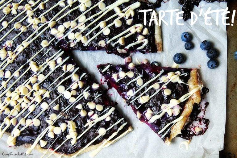 Tarte aux bleuets et chocolat blanc - Cinq Fourchettes