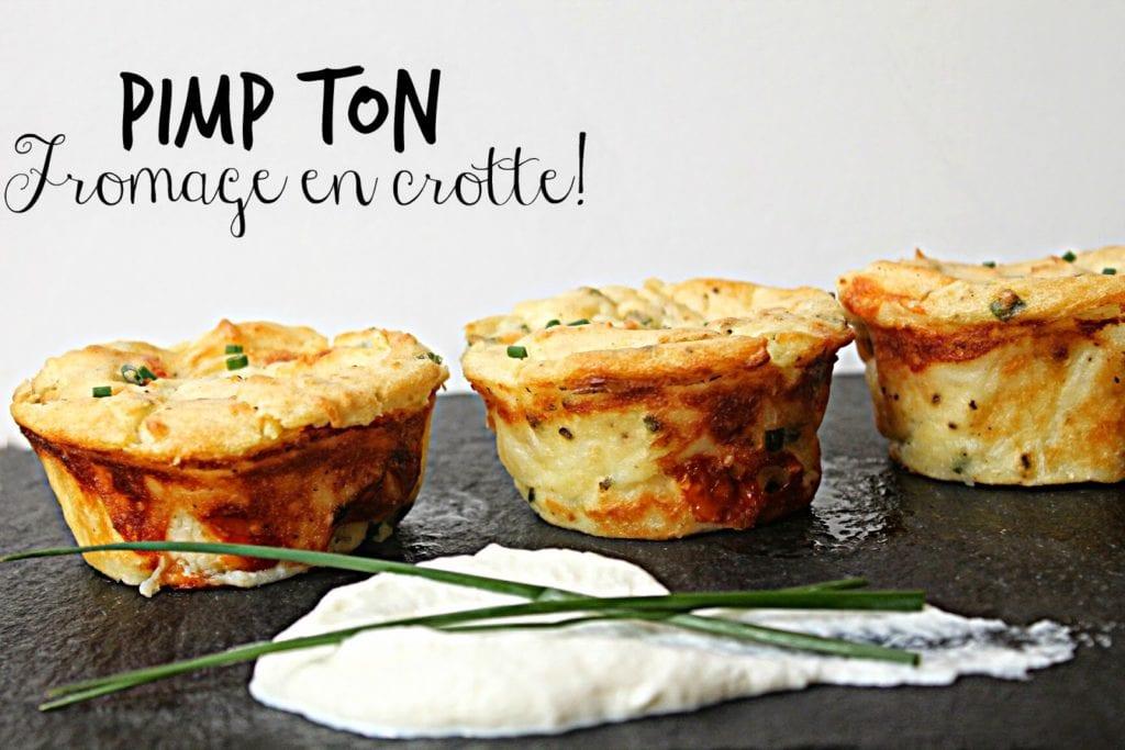 Cupcakes de patates pilées au fromage en grain - Cinq Fourchettes