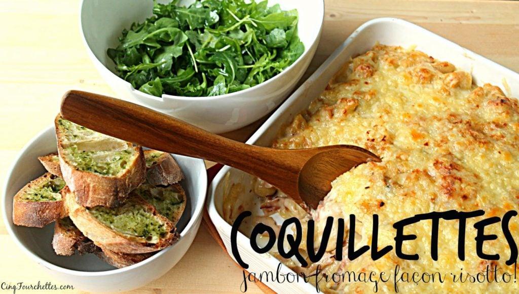 Coquillettes jambon-fromage à la manière d'un risotto - Cinq Fourchettes