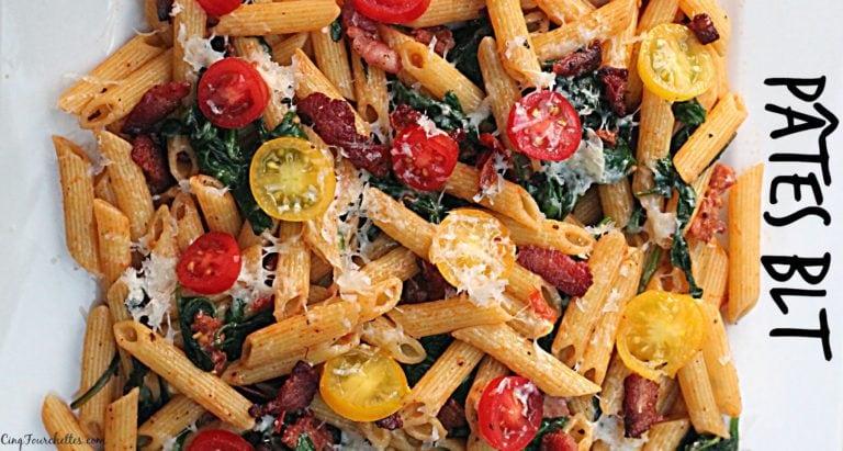 Pâtes BLT pour les repas pressés - Cinq Fourchettes