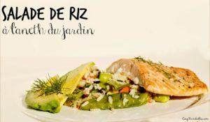 Salade de riz au saumon à l'aneth du jardin Cinq Fourchettes