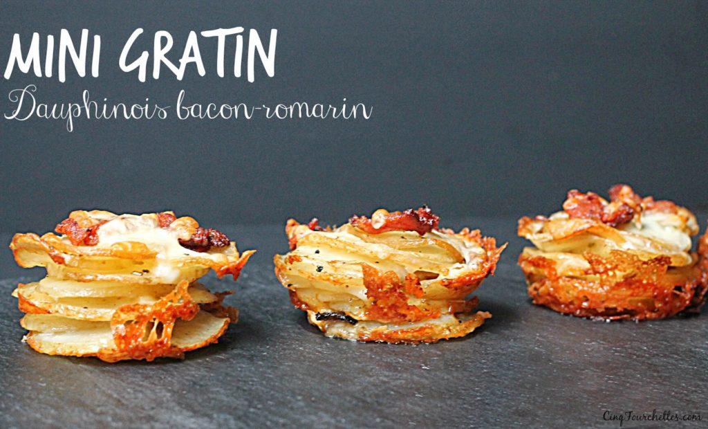 Cupcakes de gratin dauphinois bacon et romarin - Cinq Fourchettes