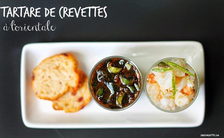 Tartare de crevettes à l'orientale - Cinq Fourchettes