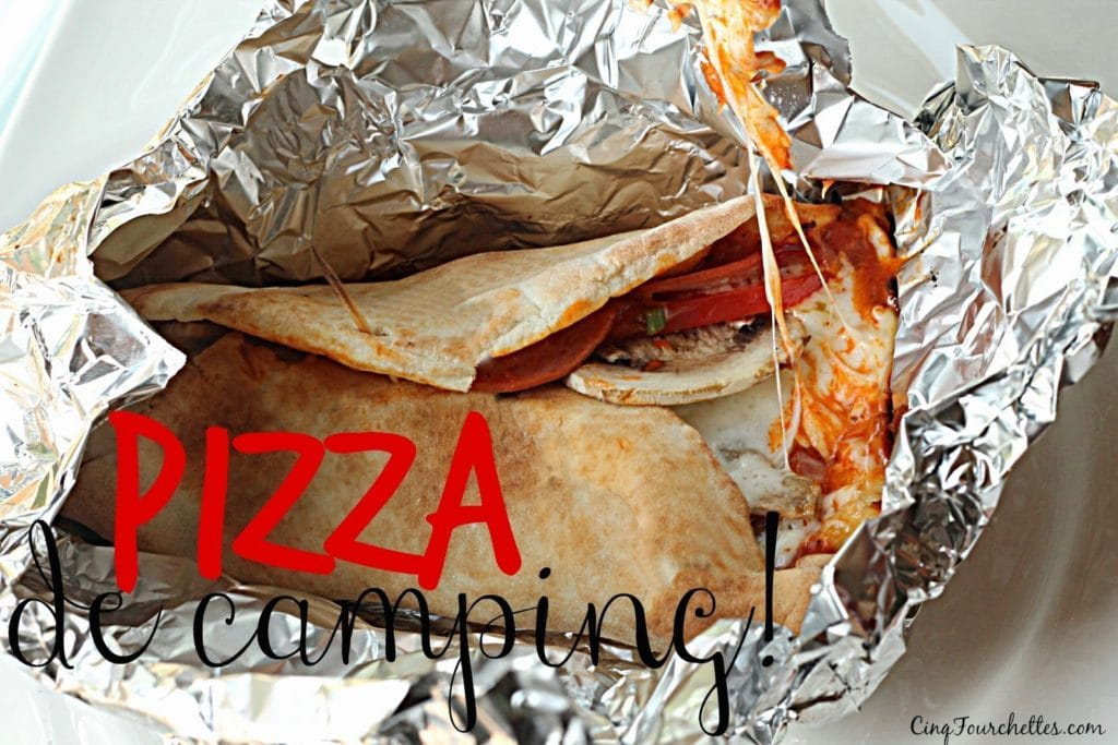 Pizza de camping - Cinq Fourchettes