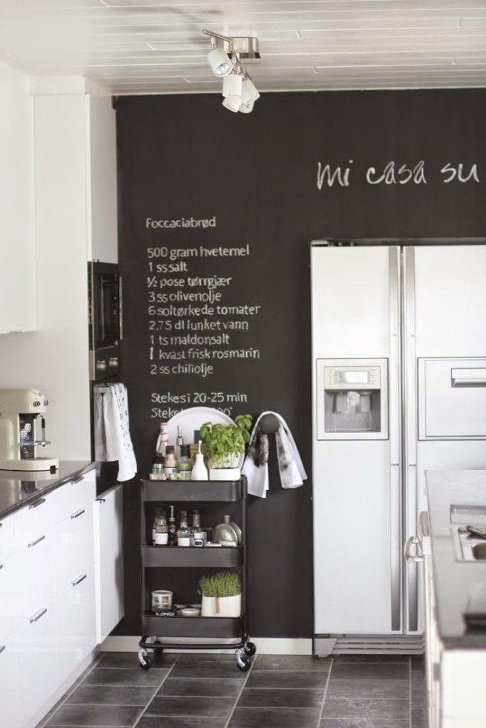 tableau dans la cuisine