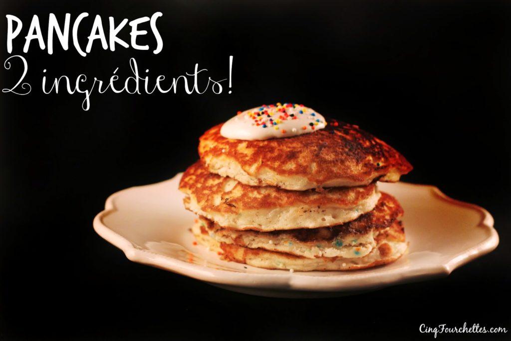 Pancakes 2 ingrédients! - Cinq Fourchettes
