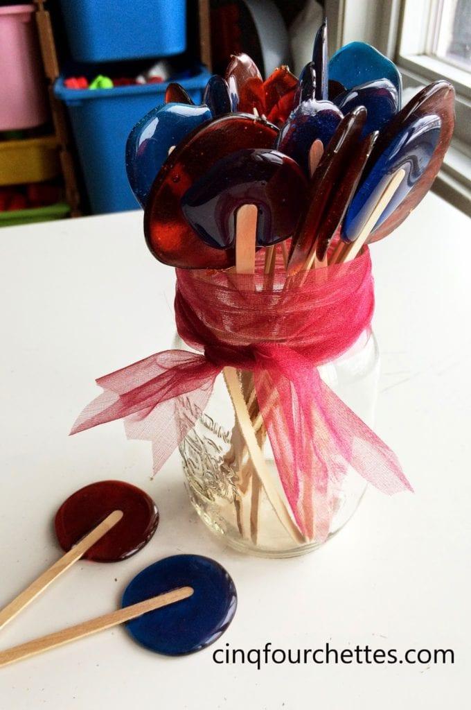 Lollipops alcoolisés - Cinq Fourchettes