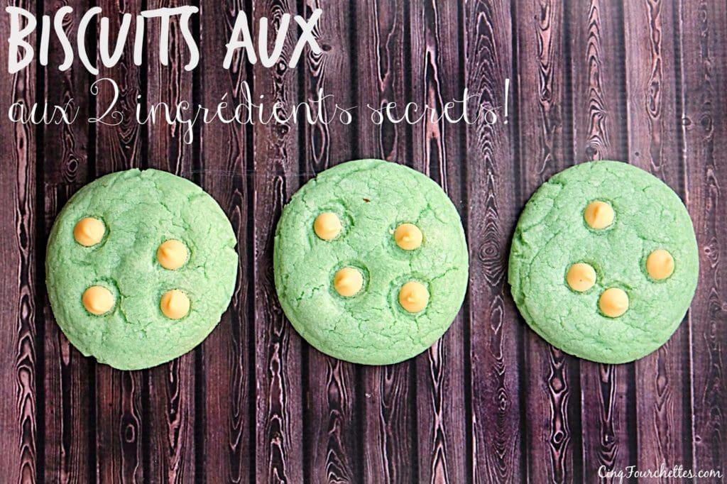 Biscuits faciles aux 2 ingrédients secrets! - Cinq Fourchettes