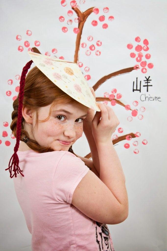 Chapeau Chinois Bricolage pour fêter le Nouvel an chinois - Cinq Fourchettes