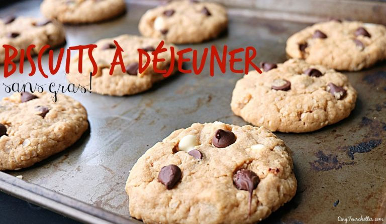 Biscuits déjeuner santé sans gras! - Cinq Fourchettes