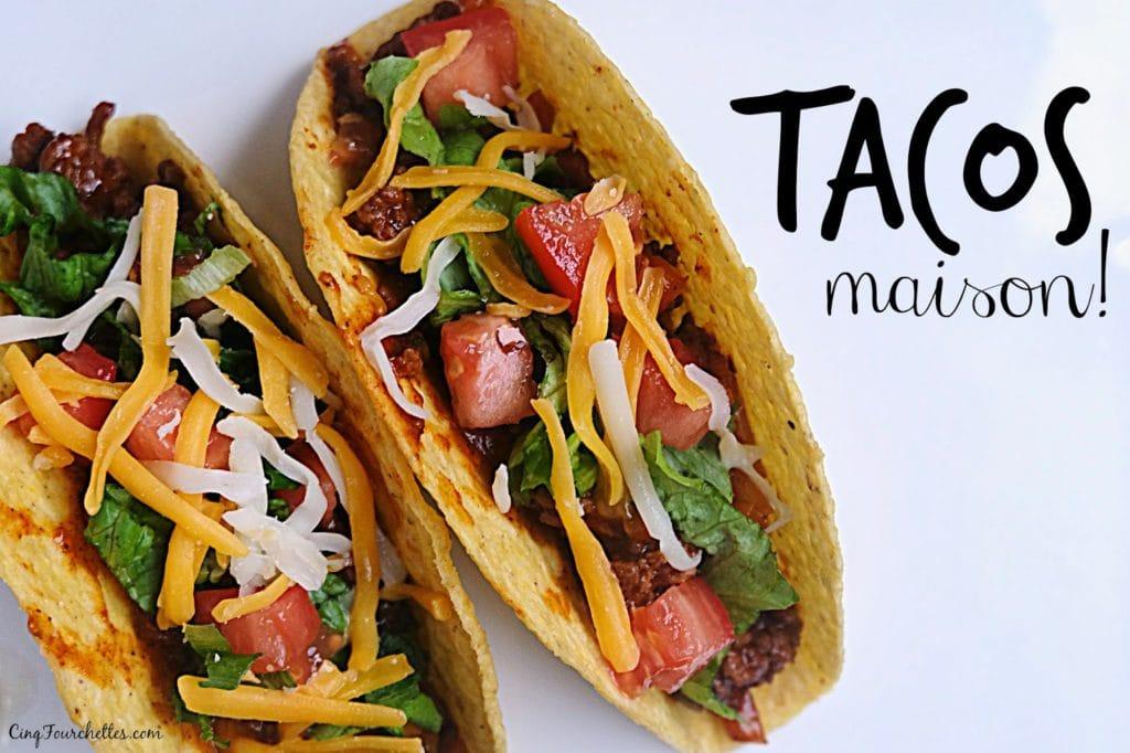 Tacos maisons réduits en sel Cinq Fourchettes