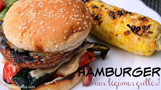 Hamburger aux légumes grillés - Cinq Fourchettes
