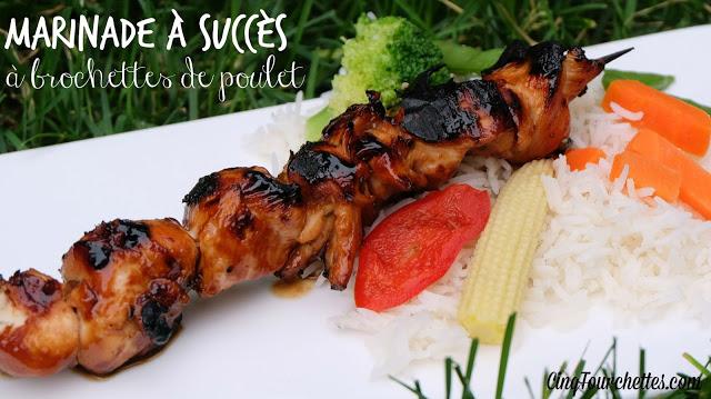 Marinades pour brochettes de poulet - Cinq Fourchettes