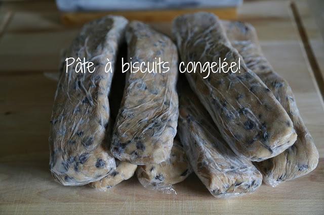 Pâte à biscuits congelée