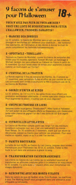 Halloween c'est aussi pour les grands! Une soirée au Casino de Montréal... - Cinq Fourchettes