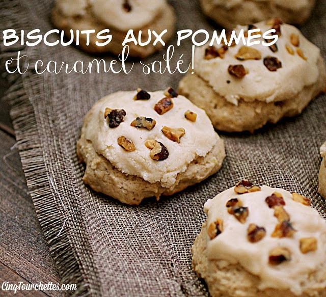 Biscuits aux pommes et au CARAMEL salé / Cinq Fourchettes