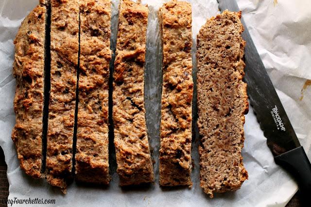 Croûtons de pain aux bananes au yogourt - Cinq Fourchettes