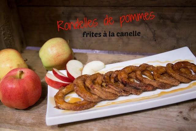 Rondelles de pommes frites à la cannelle / Cinq Fourchettes