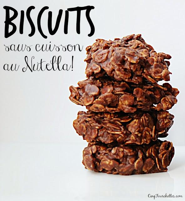 biscuits sans cuisson au Nutella