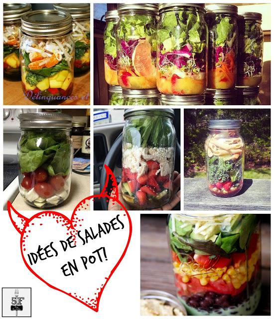 salades en pot