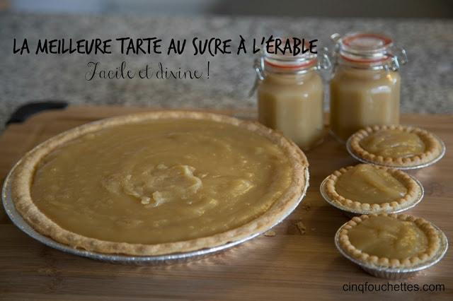 La meilleure tarte au sucre à l'érable : facile et divine! / Cinq Fourchettes