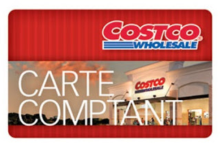 Carte comptant Costco