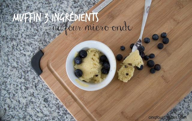 Muffin four micro-onde 3 ingrédients Cinq Fourchettes